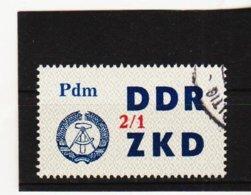 YZO922 DDR 1964 LAUFKONTROLLZETTEL ZKD Michl 42  Gestempelt  ZÄHNUNG Siehe ABBILDUNG - Dienstpost