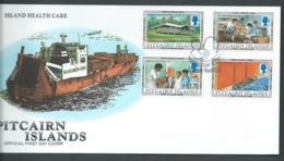 Pitcairn Islands 1995 Health Care Set Of 4 On FDC Official Unaddressed - Stamps