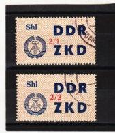 YZO924 DDR 1964 LAUFKONTROLLZETTEL ZKD Michl 44 I + II  Gestempelt  ZÄHNUNG Siehe ABBILDUNG - Dienstpost