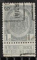 Tournai  1909   Nr. 1346B Tanding Onderkant - Precancels