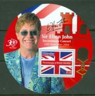 Gibraltar: 2004   300th Anniv Of British Gibraltar (Series 2 - Elton John)  M/S   MNH - Gibilterra