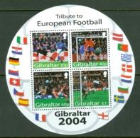 Gibraltar: 2004   European Football Championships, Portugal  M/S (x2) MNH - Gibilterra