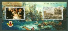 Gibraltar: 2005   Bicentenary Of Battle Of Trafalgar (Series 2)  M/S (x3)  MNH - Gibraltar