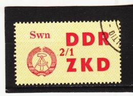 YZO925 DDR 1964 LAUFKONTROLLZETTEL ZKD Michl 45   Gestempelt  ZÄHNUNG Siehe ABBILDUNG - Dienstpost