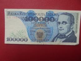 POLOGNE 100.000 ZLOTY 1990 CIRCULER (B.8) - Polen