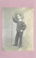 ENFANT- Portrait Au Canotier(photo En 1889 Format  10,5cm X 7,8cm) - Anonieme Personen