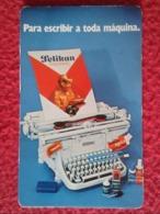 SPAIN CALENDARIO DE BOLSILLO CALENDAR 1982 PELIKAN PARA ESCRIBIR A TODA MÁQUINA TYPEWRITER PUBLICIDAD ADVERTISING VER FO - Calendars