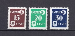 Estland - 1941 - Michel Nr. 1/3  - Postfrisch - 55 Euro - Occupation 1938-45