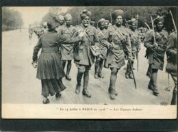 CPA - Le 14 Juillet à PARIS En 1916 - Les Cipayes Indiens, Très Animé - War 1914-18