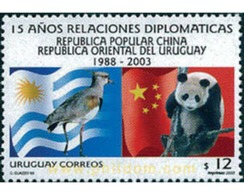 Ref. 122442 * MNH * - URUGUAY. 2003. 15 AÑOS DE RELACIONES DIPLOMATICAS CON LA CHINA - Uruguay