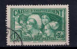 """TIMBRE CAISSE D'AMORTISSEMENT N° 269 OBLITÉRÉ TB """" LES COIFFES DE PROVINCES FRANCAISES """" - France"""