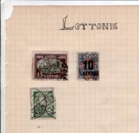 3 Timbres Lettonie - Lettonie