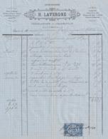 29  CHATEAULIN   PORT- LAUNAY Facture  H.LAVERGNE Ferblantier  1879. - Artesanos