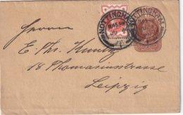 GRANDE-BRETAGNE 1898    ENTIER POSTAL/GANZSACHE/POSTAL STATIONERY LETTRE DE NOTTINGHAM - Entiers Postaux