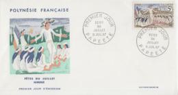Enveloppe  FDC   1er  Jour    POLYNESIE    Fêtes  Du   Juillet   1967 - FDC