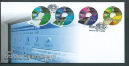 Pitcairn Islands 2001 Internet Communications Set Of 4 On FDC Official Unaddressed - Stamps