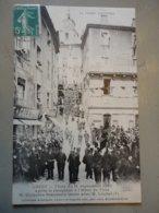 CREST FETES DU 11 SEPTEMBRE 1910 APRES LA RECEPTION A L'HOTEL DE VILLE M.DUJARDIN BEAUMETZ CAUSE AVEC M.LOUBET - Crest