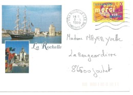 ENVELOPPE , CHARENTE , La ROCHELLE , Recto - Verso - Marcophilie (Lettres)