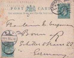 GRANDE-BRETAGNE 1903    ENTIER POSTAL/GANZSACHE/POSTAL STATIONERY CARTE  DE CAMBERLEY - Entiers Postaux