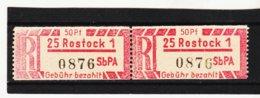YZO926 DDR 1967 EINSCHREIBE-GEBÜHRENZETTEL  Michl 1 Cx Gez. 12,5 Für Sb Versuchspostämter Postfrisch - Ungebraucht