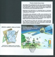 Pitcairn Islands 2000 Satellite Recovery / USA Stamp Expo Miniature Sheet On FDC Official Unaddressed - Stamps
