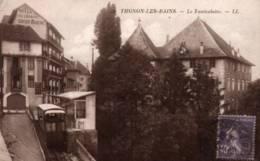 CPSM - THONON LES BAINS - LE FUNICULAIRE ... (léger Pli Coin Inf.) - Thonon-les-Bains