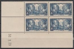427** 2.25 F. CENTENAIRE PHOTOGRAPHIE / NIEPCE ET DAGUERRE - CD 30.3.39 - 1930-1939