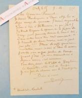 Eugène DECISY 1904 Peintre Graveur - Orly Sur Morin Carte Lettre Autographe à M Ferroud - Rochegrosse - Né à Metz L.A.S - Autógrafos