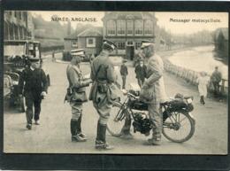 CPA - ARMEE ANGLAISE - Messager Motocycliste, Animé - War 1914-18