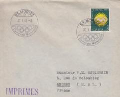 Enveloppe  FDC  1er  Jour   SUISSE   Jeux  Olympiques    SAINT  MORITZ   1948 - Winter 1948: St. Moritz