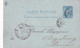 FRANCE 1878  ENTIER POSTAL/GANZSACHE/POSTAL STATIONERY CARTE DE LE HAVRE - Ganzsachen