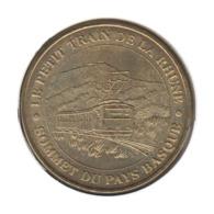 64006 - MEDAILLE TOURISTIQUE MONNAIE DE PARIS 64 - Petit Train De La Rhune - 2012 - Monnaie De Paris