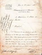 1833 LAMPISTERIE - ILLUMINATION De La Ville De PARIS L'Entrepreneur Général - LA FERTE-GAUCHER (77) - Documents Historiques