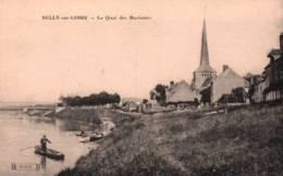 CPA - SULLY S/LOIRE - LE QUAI DES MARINIERS ... - Sully Sur Loire