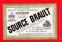 Buvard Publicitaire Eaux Minérales De COUZAN (42) - SOURCE BRAULT - Buvards, Protège-cahiers Illustrés