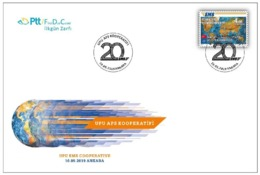 AC - TURKEY FDC - UPU EMS COOPERATIVE MNH 10 SEPTEMBER 2019 - FDC