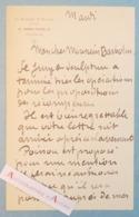 L.A.S Jean CARLUS Sculpteur La Varenne Saint Hilaire Villa Blanche Lavaur Saint Mandé Barbotin Poisson Lettre Autographe - Autographes