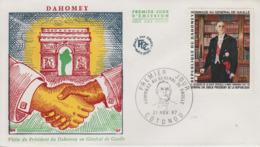 Enveloppe  FDC  1er  Jour   DAHOMEY    GENERAL  DE   GAULLE    1967 - De Gaulle (Général)