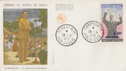 Enveloppe  FDC  1er  Jour   MADAGASCAR    GENERAL  DE   GAULLE    1972 - De Gaulle (Général)