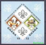 Ghana 1972 Mi Bl 47 MNH ( ZS5 GHNbl47 ) - Ghana (1957-...)