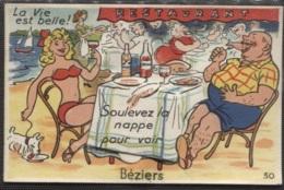 CPA - BEZIERS - FANTAISIE - CARTE SYSTEME - Edition Artaud Nozais - Beziers