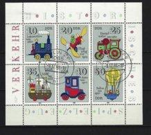 DDR Kleinbogen Mi-Nr. 2566 - 2571 Historisches Spielzeug Verkehrsmittel Gestempelt BERLIN (1) - DDR