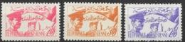 TUNISIE REPUBLIQUE TUNISIENNE SERIE N° 444/446 NEUVE ** GOMME SANS CHARNIERE - Tunisie (1956-...)