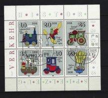 DDR Kleinbogen Mi-Nr. 2566 - 2571 Historisches Spielzeug Verkehrsmittel Gestempelt BERLIN (2) - DDR