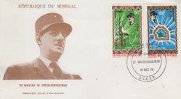 Enveloppe  FDC  1er  Jour   SENEGAL    GENERAL  DE   GAULLE    1970 - De Gaulle (Général)