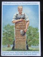 Postkarte Propaganda Saarabstimmung 1935 Saar - Germania