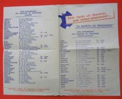 Ww2 RARE Tract La Maison Du Prisonnier Liste Alphabétique Du  Maréchal Pétain Editeur Commissariat PG Rapatriés - Documents