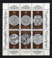 DDR Kleinbogen Mi-Nr. 3215 - 3220 Erzgebirgische Klöppelspitze Gestempelt BERLIN - DDR