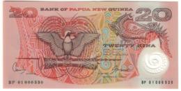 Papua New Guinea 20 Kina 2002 Pick 26A Low S/N BP01 000530 UNC .PL. - Papua Nueva Guinea