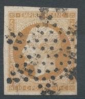 Lot N°50824  N°13Ab Bistre Orange, Oblit étoile Muette De PARIS, Belles Marges - 1853-1860 Napoléon III